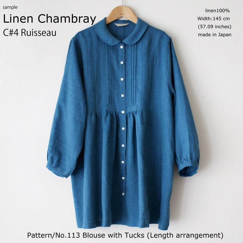 5cf606d803b Linen100% fabrics LINNET linen Chambraymade in