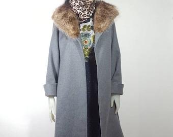 Aquascutum maxi grey coat size S