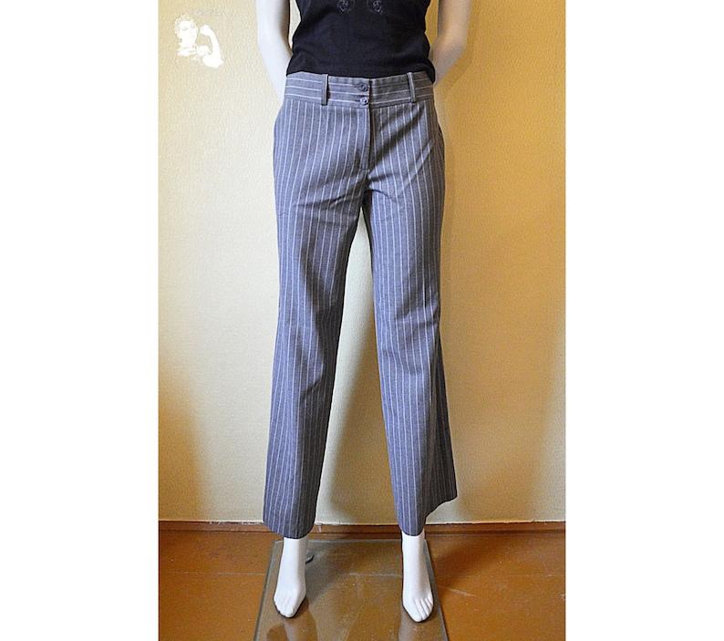 GrisClásicoCorte Pantalón PantalonesPantalones RayasRayas De Las Recto Clásico Vintage MujeresMujerA bgyY67fv