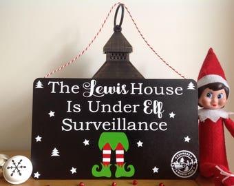 Personalised Elf Surveillance Sign