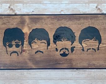 """10x8/"""" RETRO METAL Concert Affiche Signe Plaque Wall Art Pic LES BEATLES 7 2"""