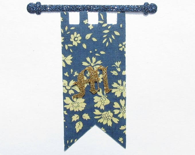 Applied fusing Knight banner and liberty fabric and glitter flex fusible pattern Monogram applique liberty badges