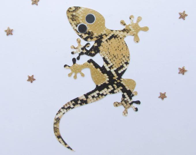 Applied fusible lizard flex printed snake patch pattern iron-on fusible patch lizard iron on patches