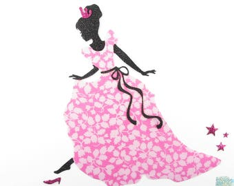 Applied fusing Princess Cinderella and her liberty glenjade fusing glass slipper badge liberty liberty patch