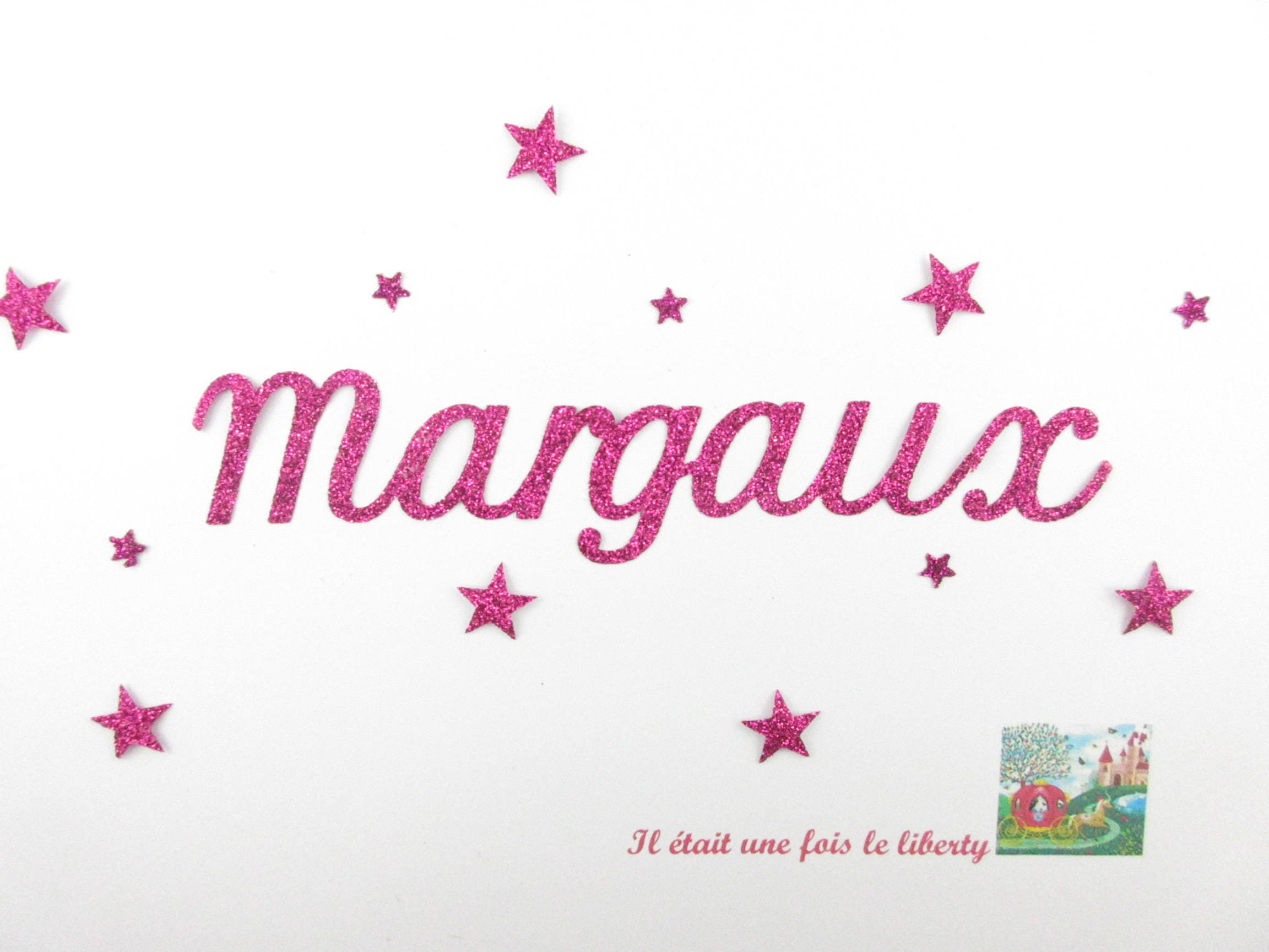 Applied fusible customizable glitter name 7 letters Margaux   Etsy