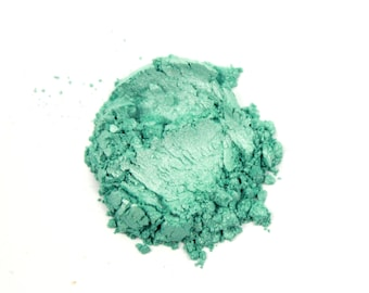 1 oz.  Mint Ice Mica Powder for Soap Making, Nail Polish Supplies, Handmade Cosmetics, Mica Tattoos, Pigment Colorant Powder Natural 200