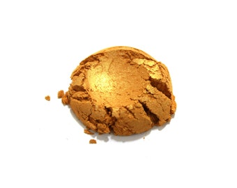 1 oz. Fine Yellow Gold Mica Powder for Soap Making, Polish Supplies Bath and Body  Handmade Cosmetics Pigment Powder Natural 309