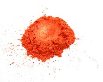 Bright Orange Gold Mica Powder  for Soap Making, Polish Supplies Bath and Body  Handmade Cosmetics Pigment Powder Natural 6712
