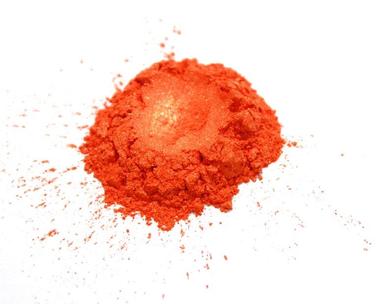 Bright Orange Gold Mica Powder  for Soap Making Polish image 0