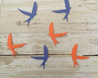 Barn Swallow Confetti & Vinyl Stickers