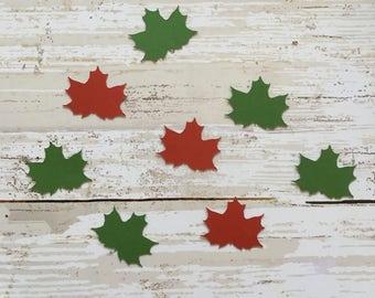 Maple Leaf Confetti & Vinyl Stickers
