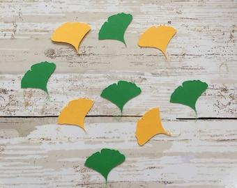Gingko Leaf Confetti & Vinyl Stickers