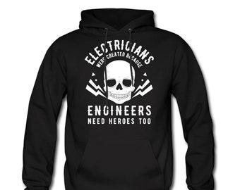 superhero patriotic electrical worker hoodie Electrician sweatshirt hoodie