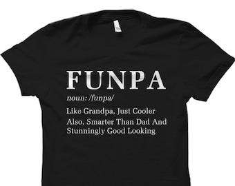 gift for grandpa, fathers day gift for grandpa, Funny Grandpa Gift, Grandpa Shirt, Funpa Cooler Smarter than Dad Shirt for Grandpa #OS940