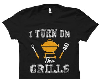 King Of The Grill T-Shirt Summer BBQ Barbecue Cooking Chef Funny