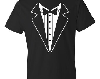 0cfce0c4 Tuxedo Shirt, Tux Shirt, Groomsmen Gifts, Groomsmen Shirt Best Man Shirt,  Tux Best Man Gift, Retro Tuxedo Costume Dress Fake Tuxedo #OS92