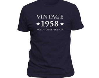 60th Birthday Gift Vintage 1958 Shirt For 60 Years Old Turning Tshirt Funny Idea OS287