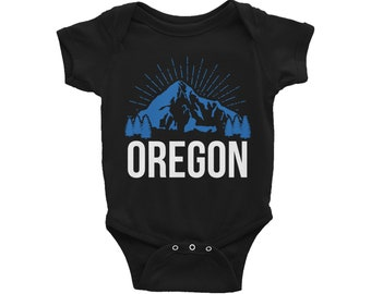 Oregon Baby Gift Oregon Baby Outfit Oregon Baby Clothes Oregon Baby Bodysuit Oregon Bodysuit Oregon Vacation Baby Gift