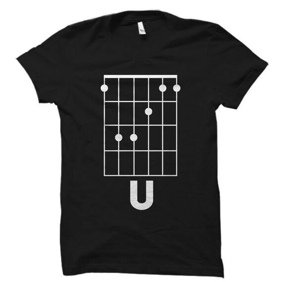 Fu Guitar Shirt Guitar Gift Guitar Chords Shirt F Chord Etsy