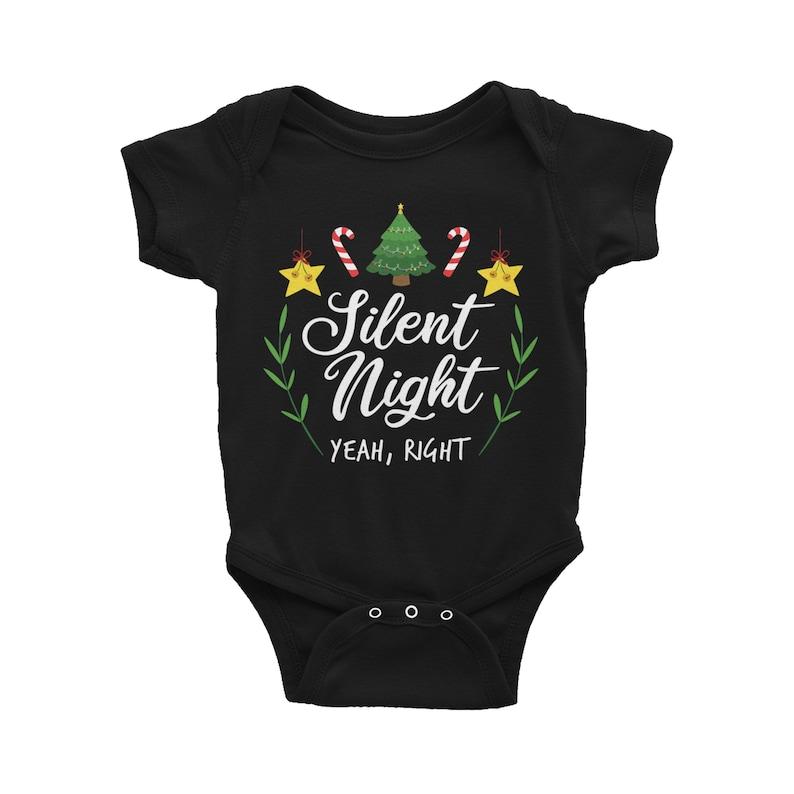Xmas Baby Bodysuit Christmas Silent Night Baby Bodysuit Christmas Baby Bodysuit Xmas Infant Outfit Christmas Song Infant Outfit