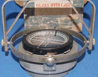 World War II SPitfire Hurricane Tiger Moth Pilots compass AM P8 Plus Gimble iand Original Box