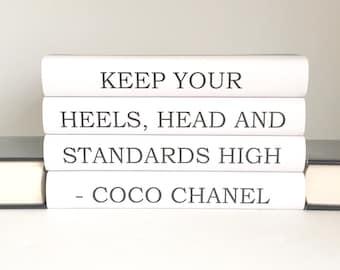 Chanel Chanel Books Coco Chanel Quote Decorative Books | Etsy