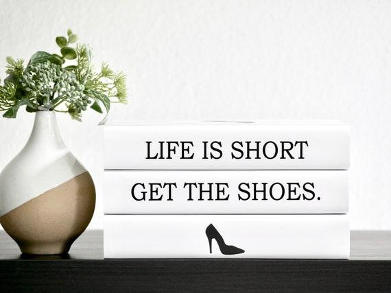 Fashion Quote Decorative Books Fashion Designer Inspired Etsy