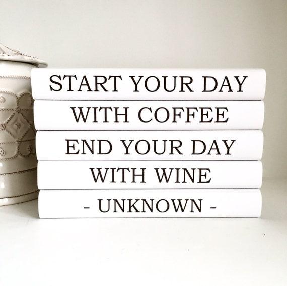Begins Kitchen Book: Coffee Lover Start Day With Coffee Books Kitchen Books Wine