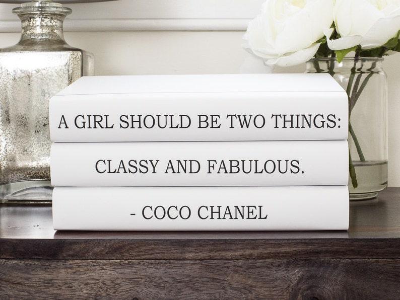 04f9b51bfae Chanel Chanel Books Coco Chanel Quote Decorative Books