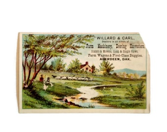 Farm business cards etsy victorian trade cards antique farm machinery business advertising willard carl orginial ad ephemera craft making scrapbook destash rts colourmoves