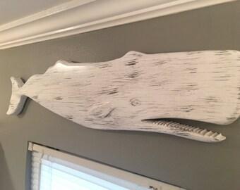 Blanc et gris sculpté baleine