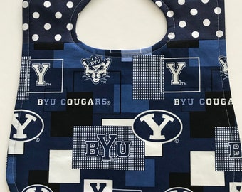 Bib for baby or toddler, Brigham Young University, NCAA, Fan gear, Gender neutral, Ready to ship!