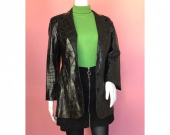 fake snakeskin jacket mens