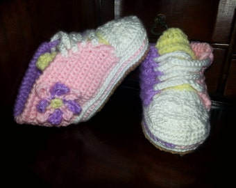 Yarntivity Baby Sneakers / Tennis Shoes - Free Shipping