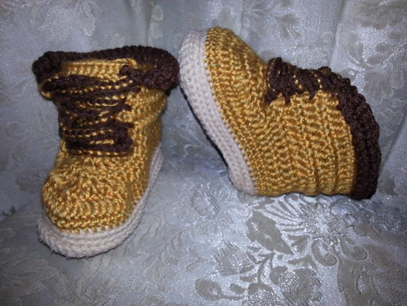 Little Man Work Boots Crochet Pattern by Yarntivity PATTERN image 0