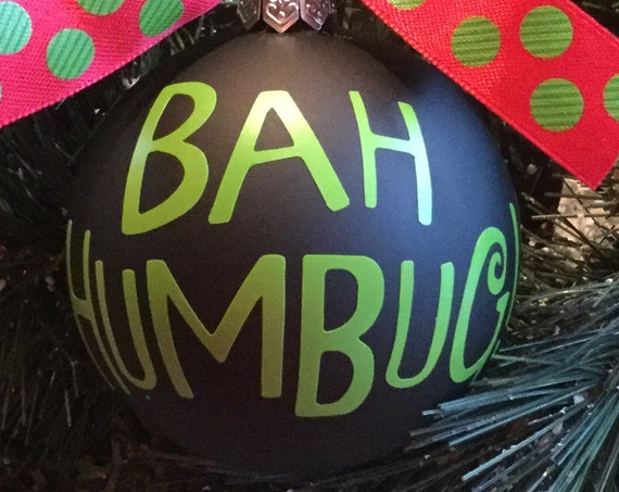 Personalized Bah Humbug! Christmas Ornament