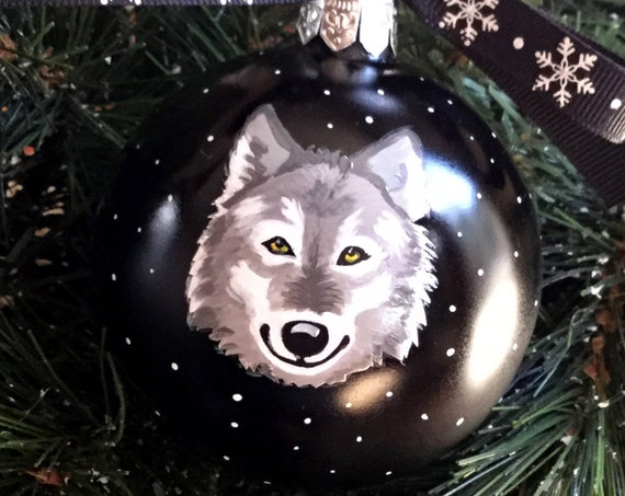 Personalized Wolf Christmas Ornament - Wolf Ornament