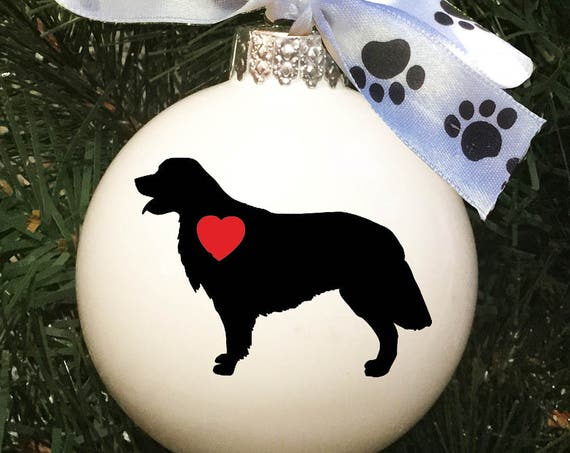 Personalized Dog Silhouette Christmas Ornament - Dog Breed Silhouette Ornaments