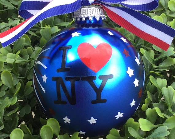 "Personalized ""I Love NY"" Ornament - Vacation Ornament"
