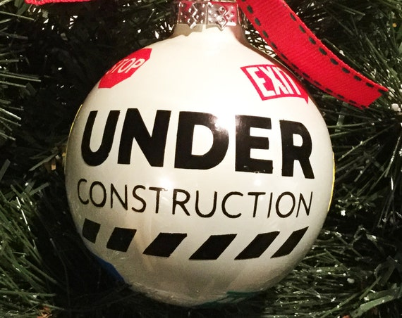 Construction Christmas Ornament - Personalized Christmas Ornament