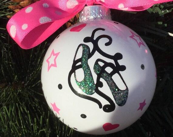 Ballet Slippers Christmas Ornament - Personalized Ballet Shoes Ornament - Dance Ornament