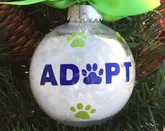 Adopt Dog or Cat Christmas Ornament - Personalized Dog or Cat Christmas Ornament
