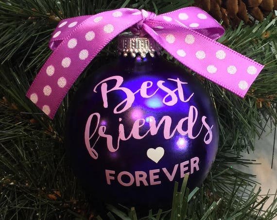 "Personalized ""Best Friends Forever"" Ornament"
