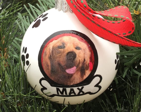 Custom Personalized Christmas Ornament - Personalized Hand Painted Pet Ornament