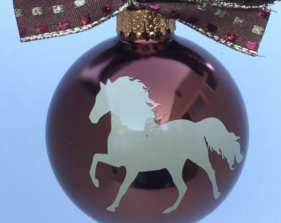 Horse Silhouette Christmas Ornament - Personalized Horse Ornament