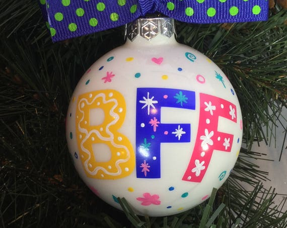 "Personalized ""BFF"" Ornament - ""Best Friends Forever"" Ornament"