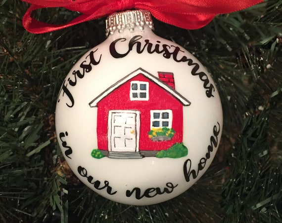 First Christmas In Our New Home Christmas Ornament - New Home Personalized Christmas Ornament