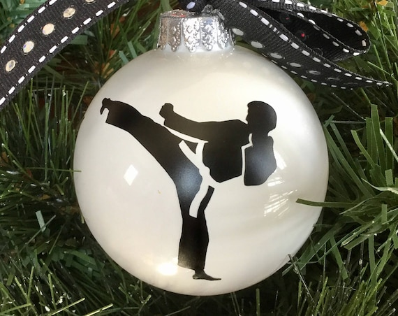 Personalized Martial Arts Ornament - Personalized Karate Ornament