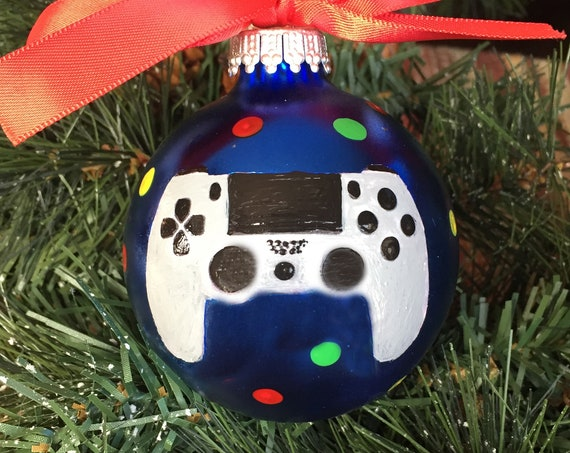 Personalized Game Controller Christmas Ornament - Playstation 4 Controller Ornament - Christmas Ornament for Gamer