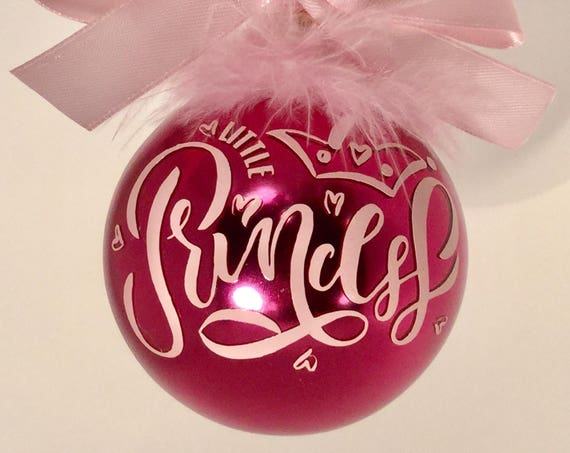 Little Princess Christmas Ornament - Personalized Little Princess Ornament
